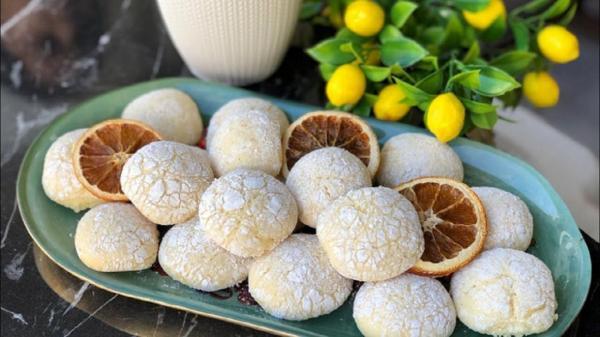 طرز تهیه شیرینی ترکی قرابیه پرتقالی برای عید نوروز